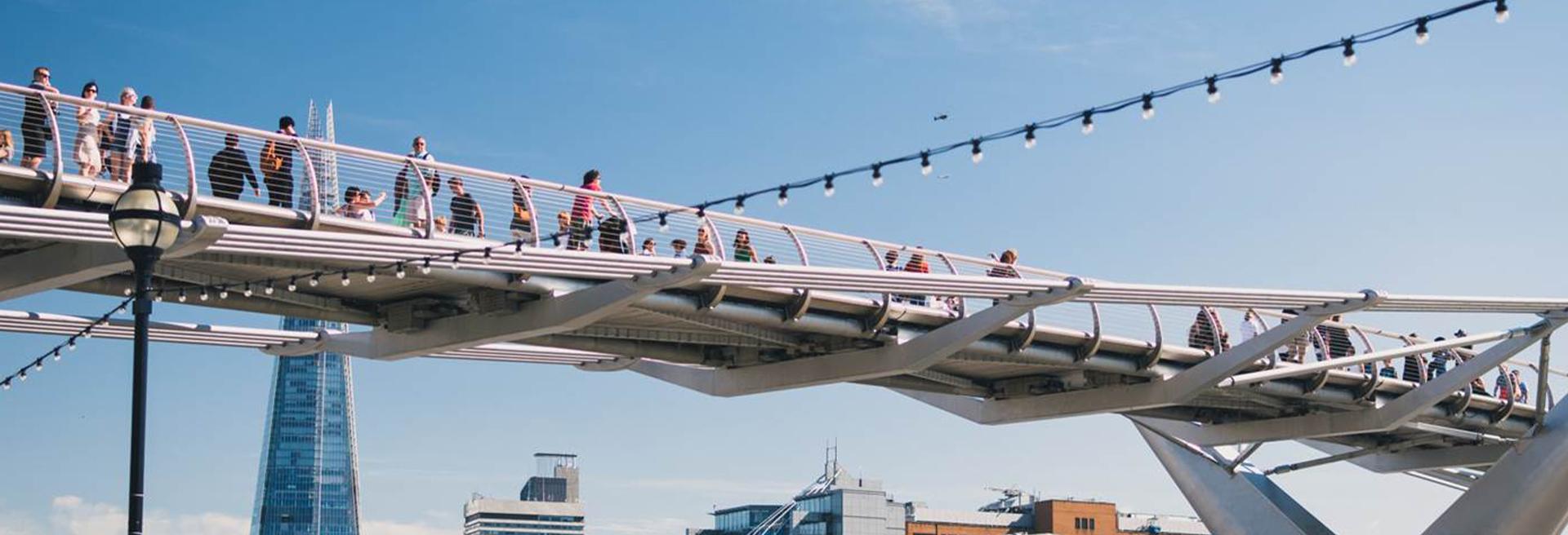 People-on-Millennium-bridge-Shard